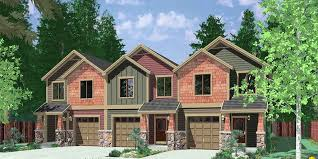 free earth sheltered home plans inspirational triplex house plans multi family homes row house plans of