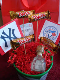 baseball gift basket plete with tickets great gift for a boyfriend