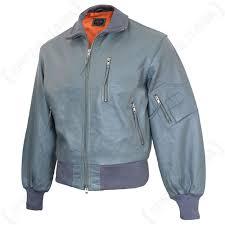 german pilots grey leather flight jacket