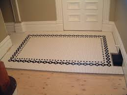 creative tile flooring patterns small white hex tile with black border love this floors