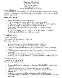 Sample Criminal Investigator Resume Professional Resume Templates