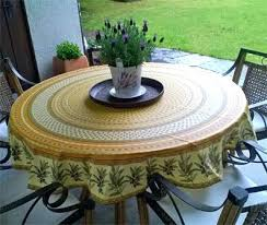 tablecloth with umbrella hole fitted round