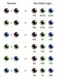 Eye Color Probability Chart Eye Color Gene Probability Chart Eye Color Chart Eye