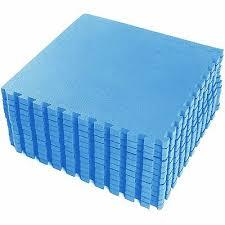 Blue Large Eva Interlocking Soft Foam Exercise Floor Mats Kids ...