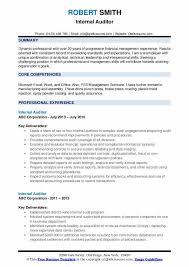 Internal Auditor Resume Samples Qwikresume