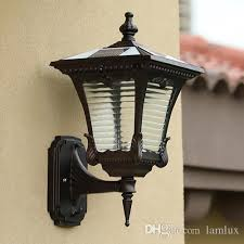 2019 solar power led wall lamps outdoor wall lights super bright led garden lights walll lamp warm white cool white color sensor functions from lamlux