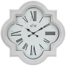 white quatrefoil wall clock hobby