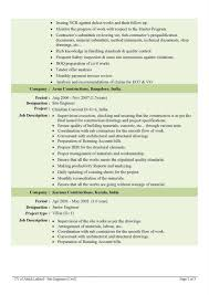 Resume Civil Engineer Resume Sample
