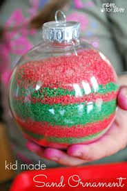 Kids Crafts For Christmas Kids Homemade Christmas Ornaments Mess For Less