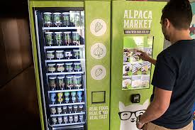 Healthy Food Vending Machines New HealthConscious Alpaca Market's Vending Machines Serve Jars Of