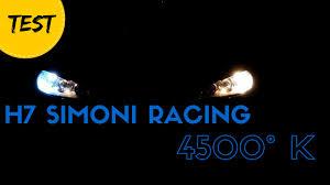 Test Lampadine H7 Simoni Racing 4500k Vs H7 Stock