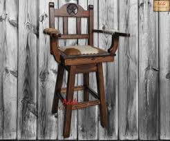 diy rustic bar stools that swivel
