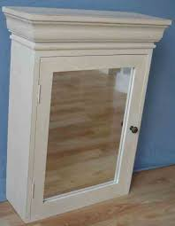 wall cabinet with mirror door in