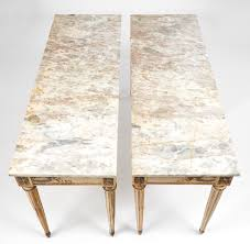 Italian Marble Coffee Table Italian Antique Arabescato Marble Topped Tables Jean Marc Fray