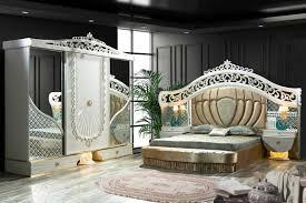Schlafzimmer Set Dubai Weiß Hochglanz 6 Teilig Traumhaft
