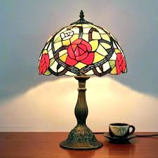dale tiffany desk lamp table lamps red rose vintage luxury fashion personality glass cry