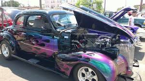 1939 BLACK CHEVROLET 2 DOOR COUPE with PURPLE FLAMES - YouTube