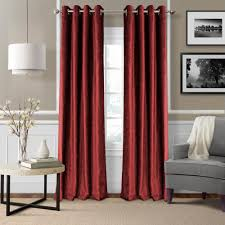 blackout victoria red blackout grommet window curtain panel 52 in