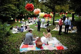 picnic wedding reception. Unique Wedding Ceremony Ideas Unite with Nature For more unique