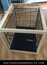 diy dog crate cover table 2 heather s handmade life