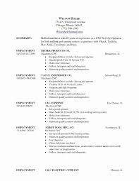 Machine Operator Resume Sample Machinist Resume Examples Cnc Machine Operator Resume Sample Luxury 30