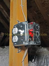 how to wire an attic electrical outlet and light junction box wiring exposed work cover junction box wiring outlet and light switch