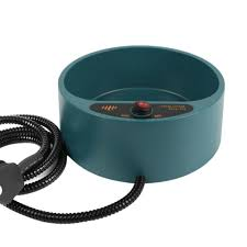 Wholesale Dog Cat Pet Electronic Heated Water Bowl Dish Outdoor Thermal Feeder Heater safe Feed Cage Container-in Feeding from Home \u0026 Garden
