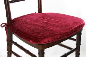 burdy crushed velvet seat cushion cover mosaic inc chiavari chair covers chairs with church bench office