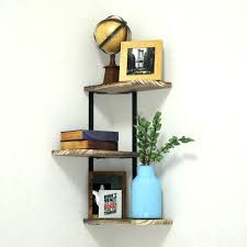 corner shelf wall mount of 3 tier by love rustic wood floating shelves solid