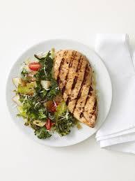 grilled en with roasted kale