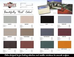 Richards Paint Color Chart Richards 100 Acrylic Driveway Floor Coating Gallon