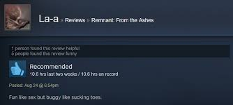 Remnant From The Ashes As Told By Steam Reviews
