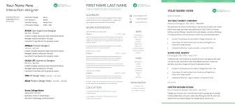 Ux Designer Resume 5 3 UX Resume Templates Side By Side .