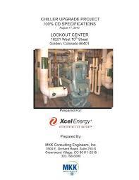 2010 08 13 Xcel Chiller Specs Gh Phipps Construction Companies