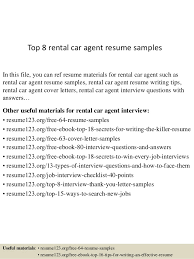 Top 40 Rental Car Agent Resume Samples Amazing Rental Resume