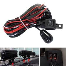 12v 40a remote control wiring harness kit strobe switch relay led light remote control wiring harness switch relay led fog light bar kit 12v 40a