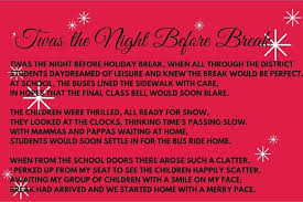 "first student shares school bus twist on christmas poem school  first student shared "" twas the night before break "" which was written by"