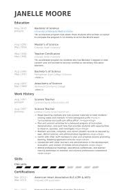 Science Teacher Resume samples