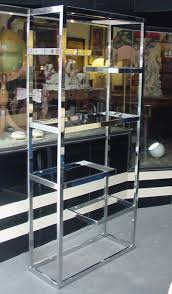 chrome and glass bookcase stupendous 20th century modern design seating by eames knoll wegner bertoia interior