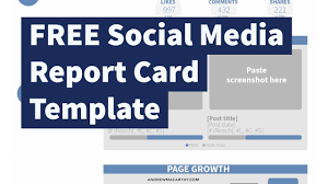 Free Business Report Card Free Social Media Report Card Template Photoshop Psd Youtube