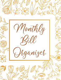 Design Check Categories Amazon Com Monthly Bill Organizer Money Management Guide