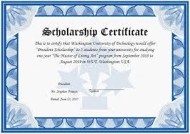 Scholarship Certificate Template Certificates Interesting Scholarship Certificate Template