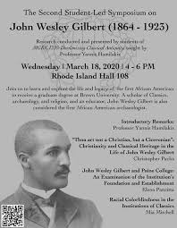 Second Student-Led Symposium: John Wesley Gilbert (1864-1923), Joukowsky  Institute for Archaeology and the Ancient World, Providence, March 18 2020  | AllEvents.in