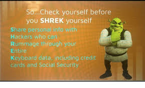 Personal Info Cards Socheck Yourself Before You Shrek Yourself Share Personal Info With