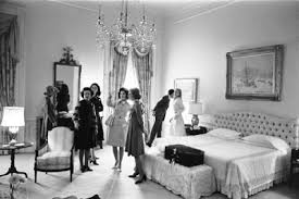 The Johnson White House Seen Above Shows Single Beds Pushed Together With  One Unifying Upholstered Headboard   A La, I Love Lucy.