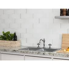 The kitchen is one of the best places in the home to pull out all the stops when it comes to renovation because it's guaranteed glass mosaics are going to grow in popularity in the next few years. Crystal White Ice Glass Tile 4 X 12 100088418 Floor And Decor