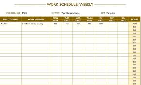 Excel Templates Work Schedule Free Work Schedule Templates For Word And Excel
