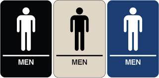 men bathroom sign. when men bathroom sign