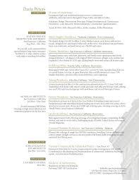 Architect Resume Samples Creative Sample Daria Peters Simple