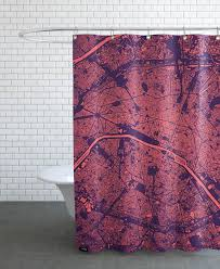 paris purple shower curtain